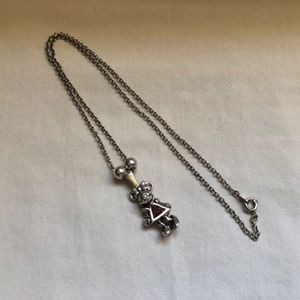 Sterling Silver Disney Minnie Mouse Necklace